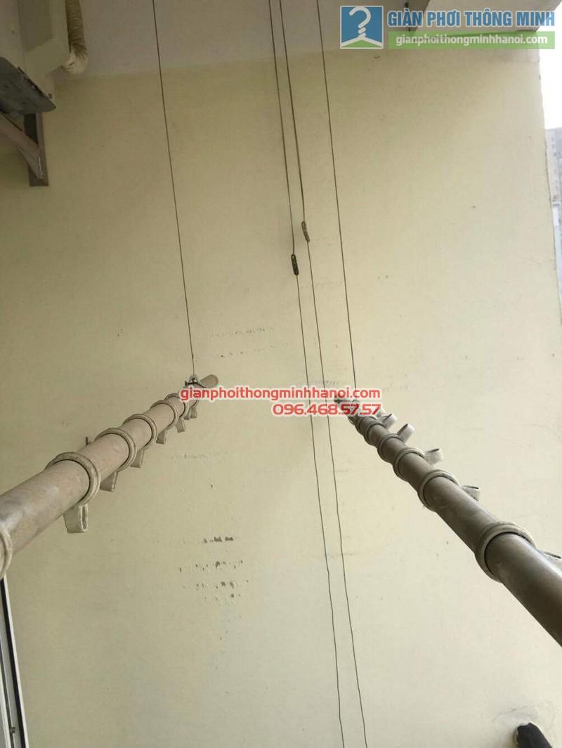 Sửa giàn phơi thông minh nhà chị Thảo, Chung cư Viện Bỏng Thanh Trì, Hà Nội - 08