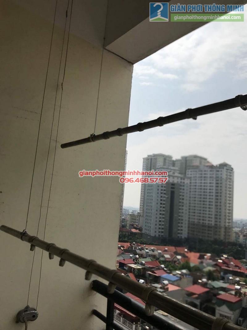 Sửa giàn phơi thông minh nhà chị Thảo, Chung cư Viện Bỏng Thanh Trì, Hà Nội - 04