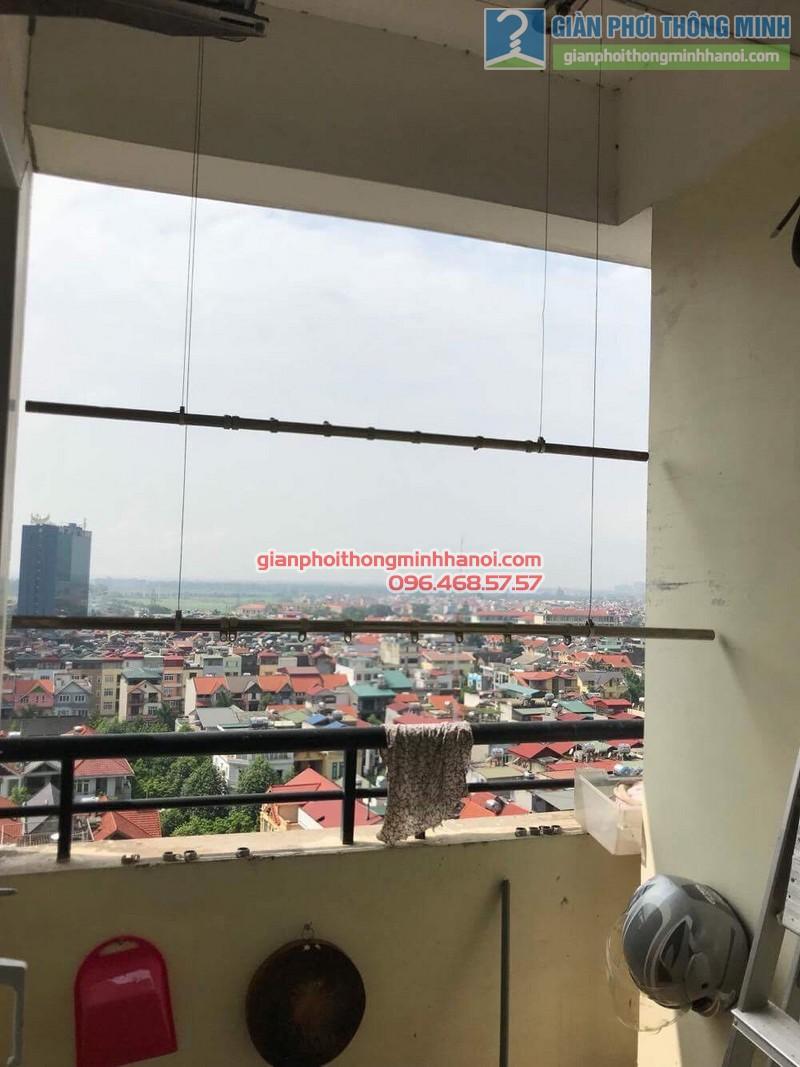 Sửa giàn phơi thông minh nhà chị Thảo, Chung cư Viện Bỏng Thanh Trì, Hà Nội - 03