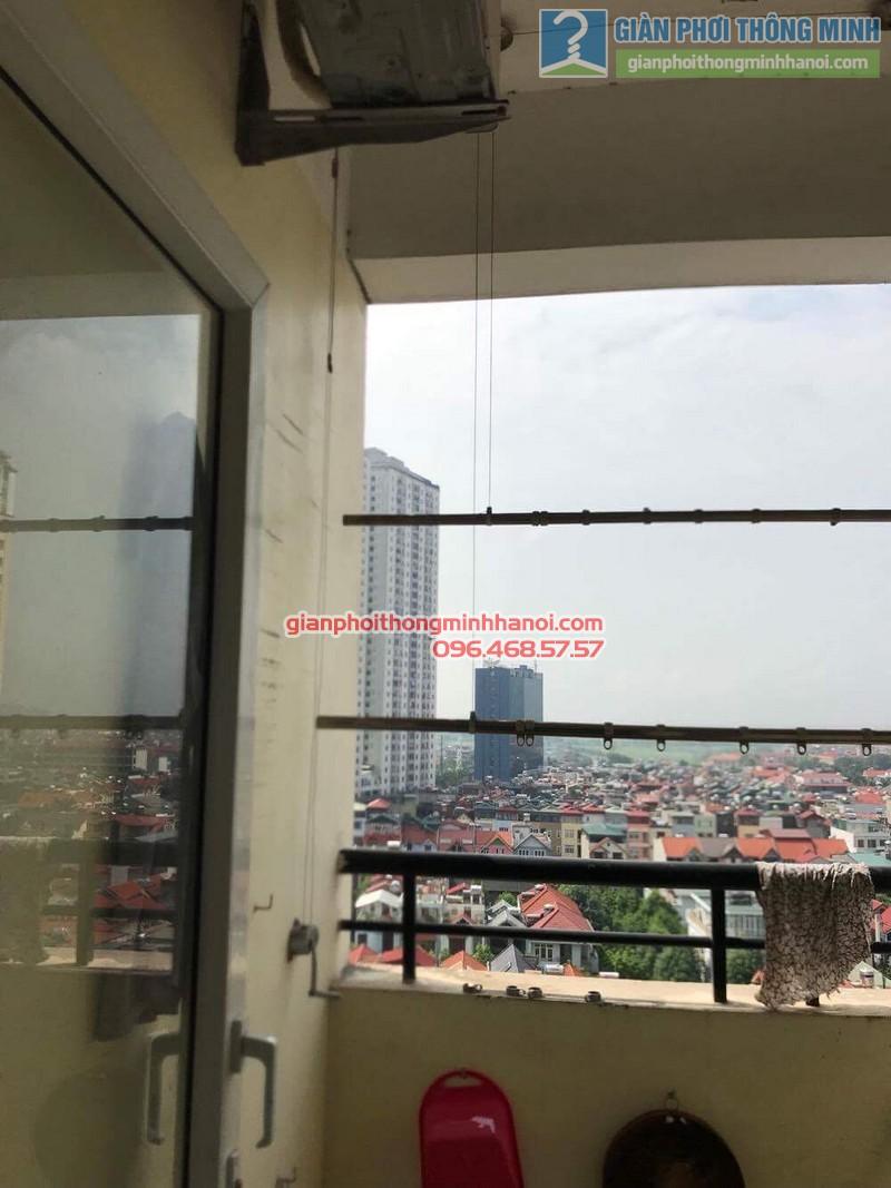 Sửa giàn phơi thông minh nhà chị Thảo, Chung cư Viện Bỏng Thanh Trì, Hà Nội - 02