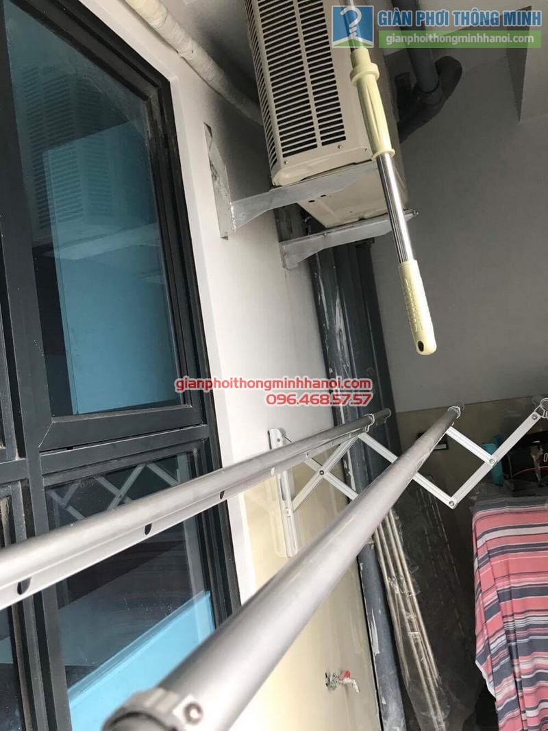 Lắp giàn phơi gắn tường nhà chị Thùy, 266 Hồ Tùng Mậu, Nam Từ Liêm, Hà Nội - 10
