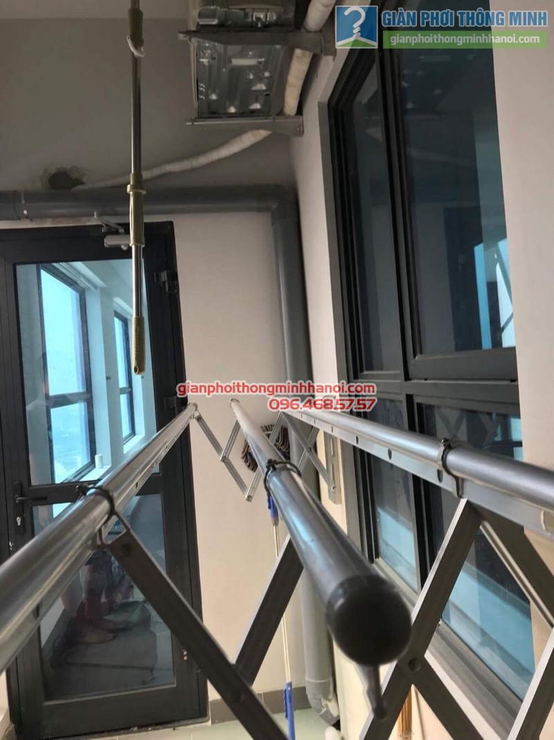 Lắp giàn phơi gắn tường nhà chị Thùy, 266 Hồ Tùng Mậu, Nam Từ Liêm, Hà Nội - 03