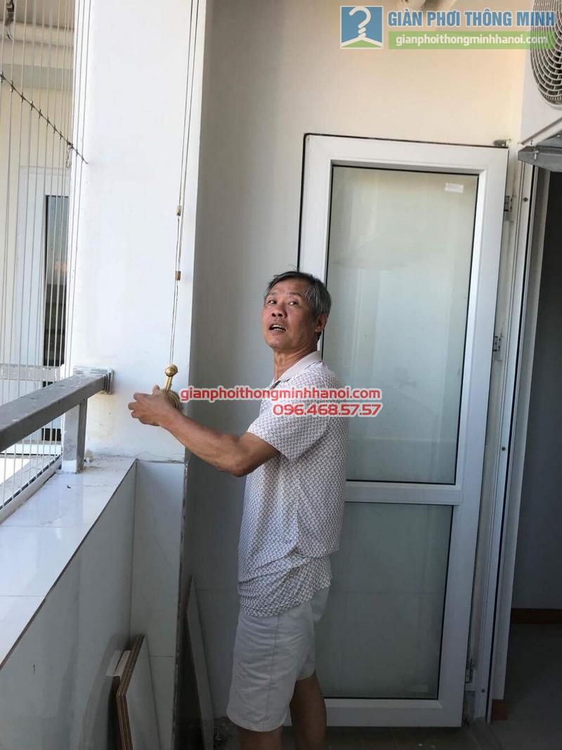 Sửa giàn phơi thông minh Hà Đông nhà chú Xuân, chung cư Unimax 210 Quang Trung - 04