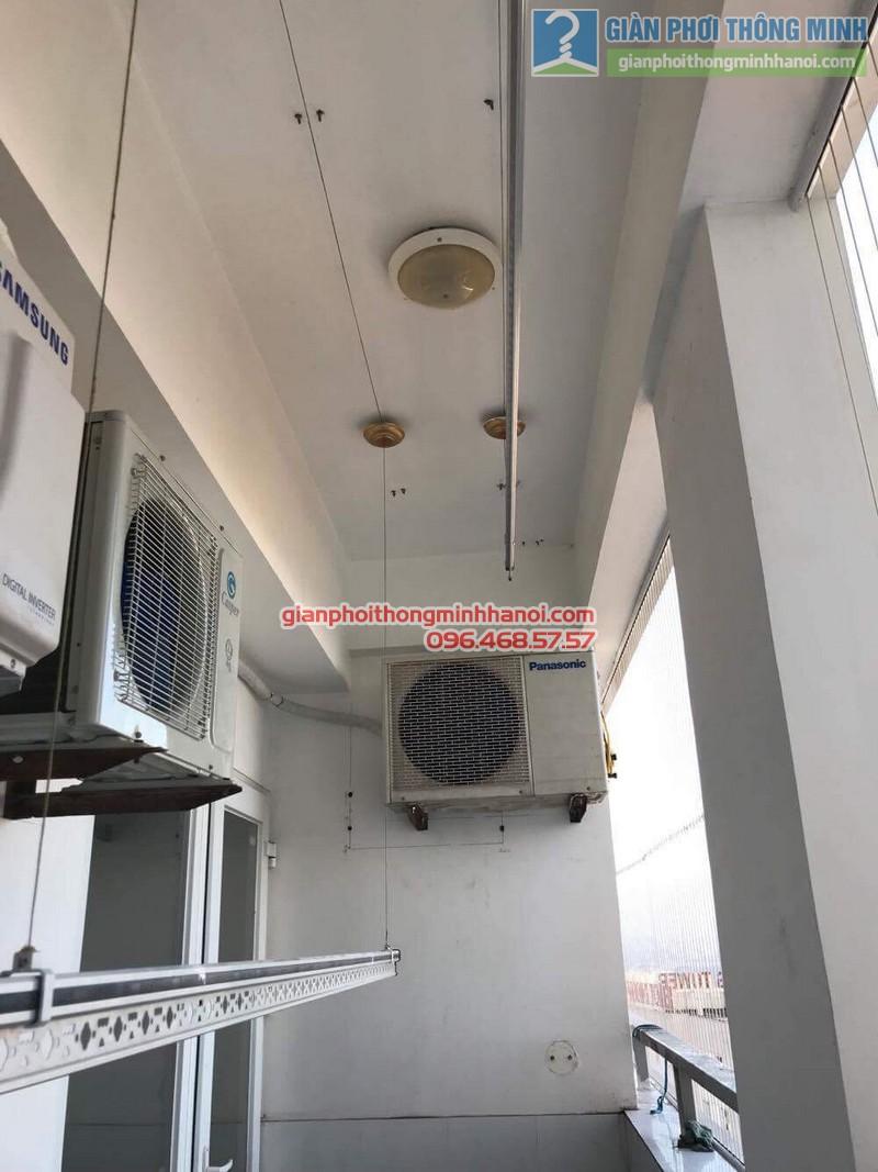 Sửa giàn phơi thông minh Hà Đông nhà chú Xuân, chung cư Unimax 210 Quang Trung - 03