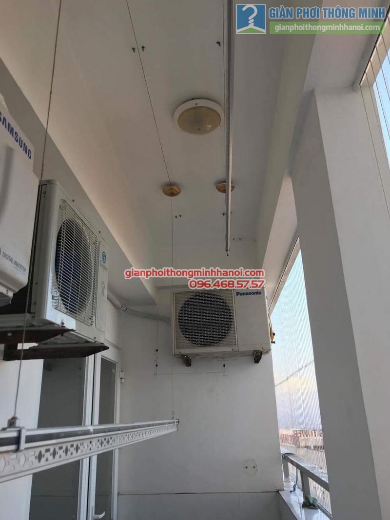 Sửa giàn phơi thông minh Hà Đông nhà chú Xuân, chung cư Unimax 210 Quang Trung - 06