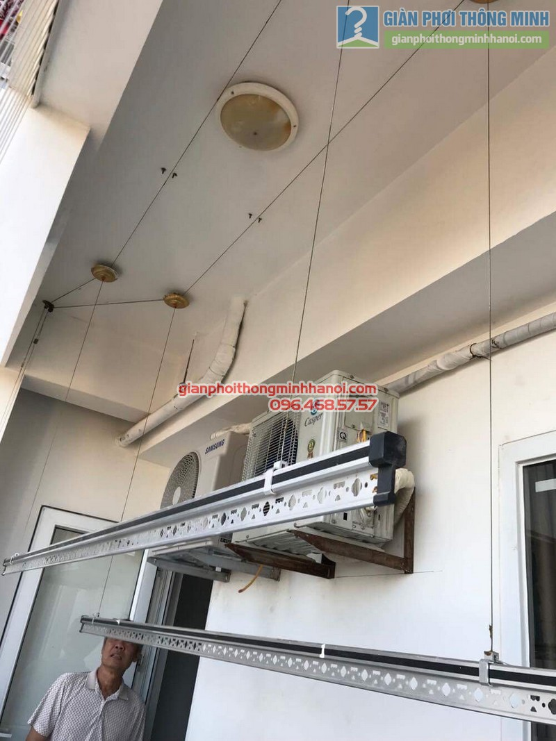 Sửa giàn phơi thông minh Hà Đông nhà chú Xuân, chung cư Unimax 210 Quang Trung - 09