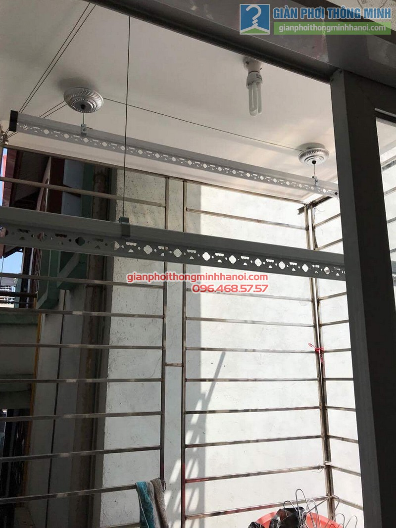 Lắp giàn phơi tại Hoàng Mai, nhà chị Lương, số 26, ngõ 733 Giải Phóng - 07