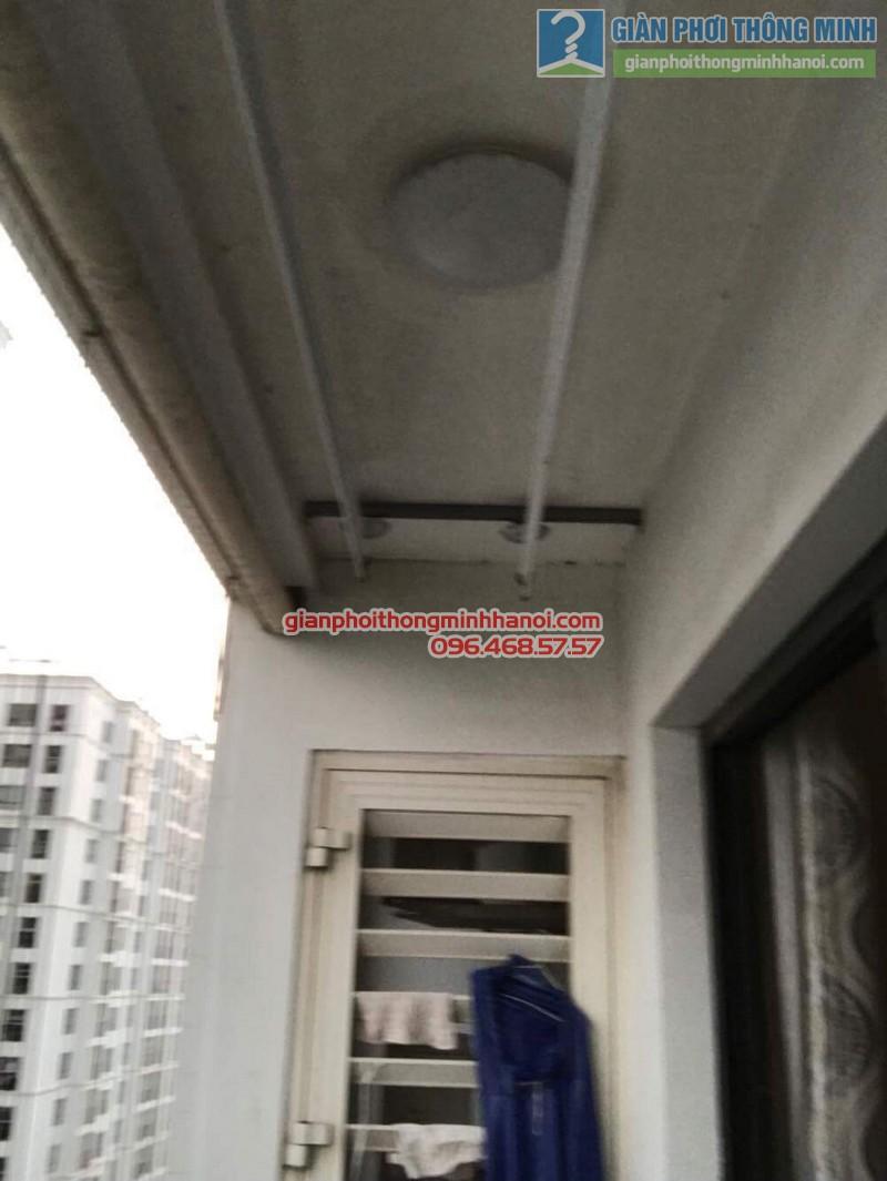 Sửa giàn phơi thông minh nhà anh Hậu, P2109, t8, Times City - 01