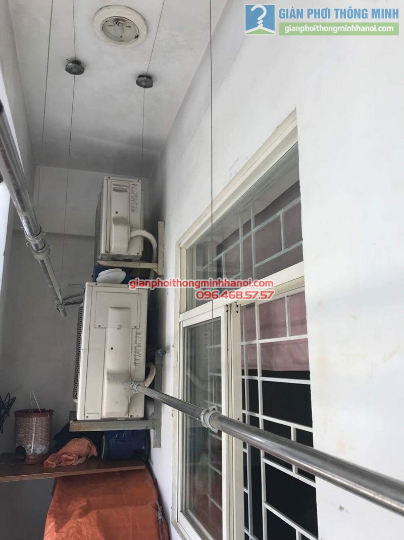 Sửa giàn phơi thông minh nhà chị Quyên, Long Biên, Hà Nội - 01
