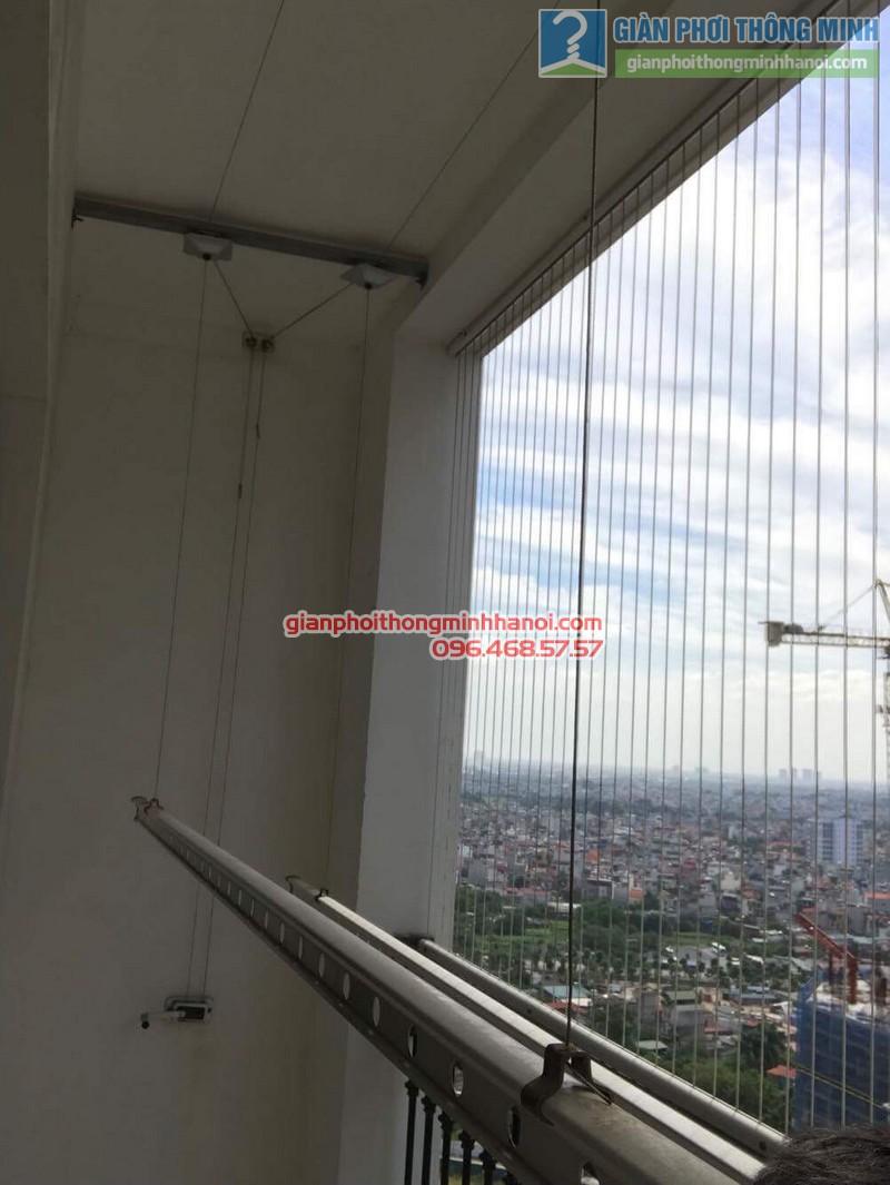 Sửa giàn phơi thông minh nhà chị Nguyệt, T8, Times City - 04
