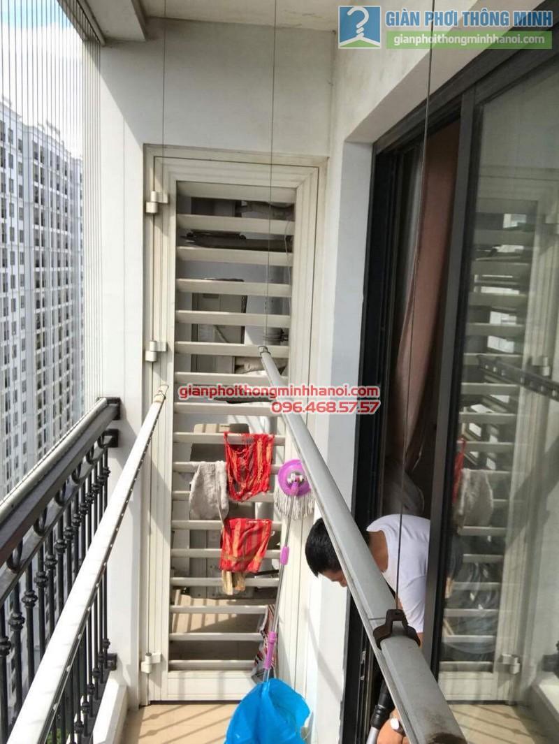 Sửa giàn phơi thông minh tại Times city nhà anh Hạo, P2119, tòa T8 - 01
