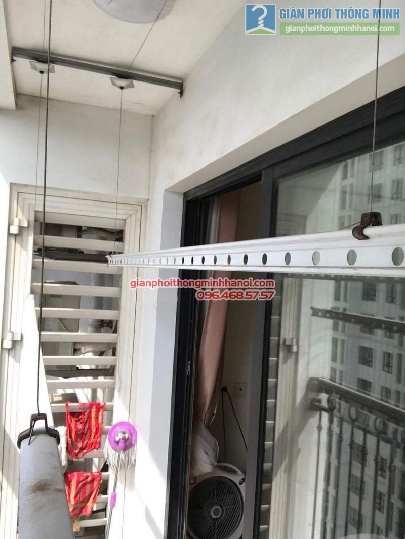 Sửa giàn phơi thông minh tại Times city nhà anh Hạo, P2119, tòa T8 - 04