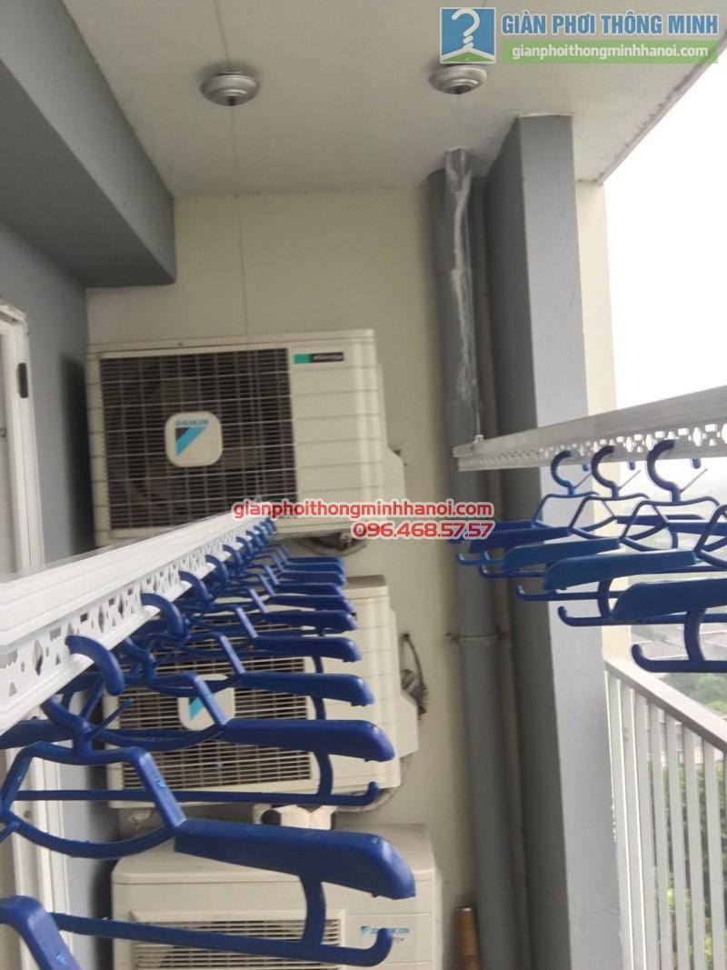 Lắp giàn phơi nhà chị Mai, P1503, Tòa A2, KĐT Ecopak - 03