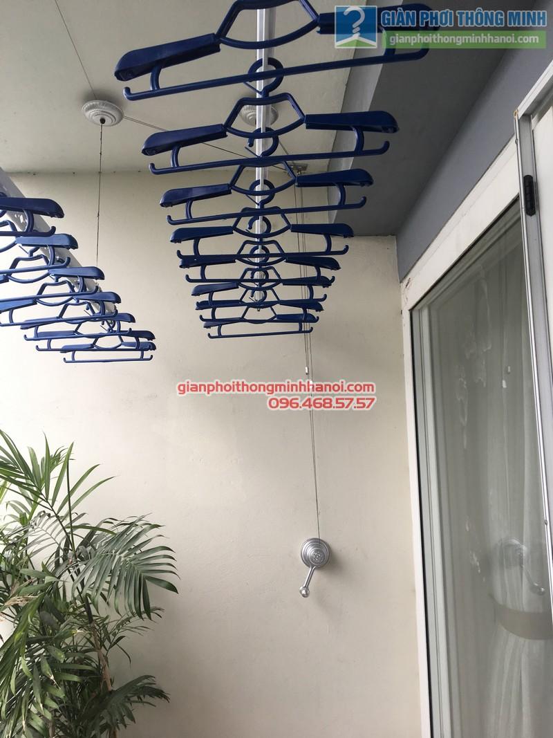 Lắp giàn phơi nhà chị Mai, P1503, Tòa A2, KĐT Ecopak - 06