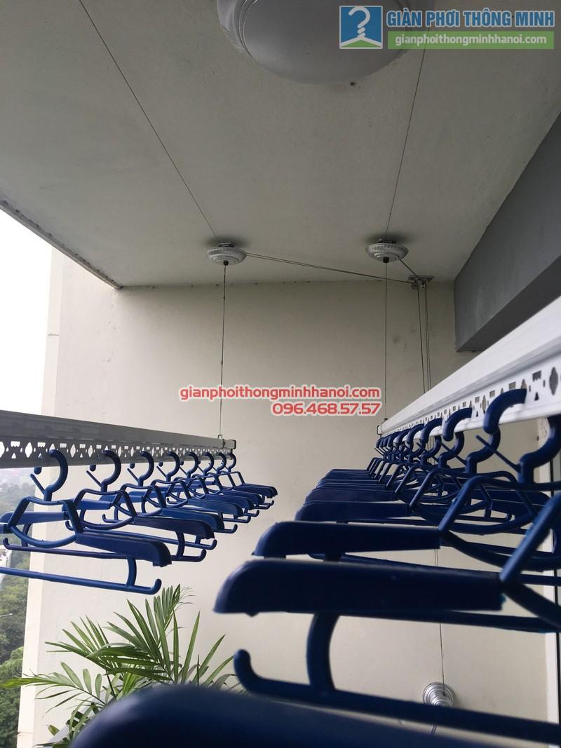 Lắp giàn phơi nhà chị Mai, P1503, Tòa A2, KĐT Ecopak - 07