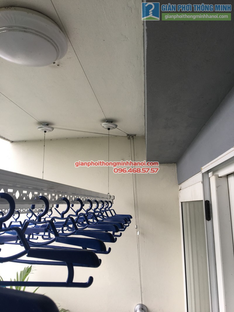 Lắp giàn phơi nhà chị Mai, P1503, Tòa A2, KĐT Ecopak - 08