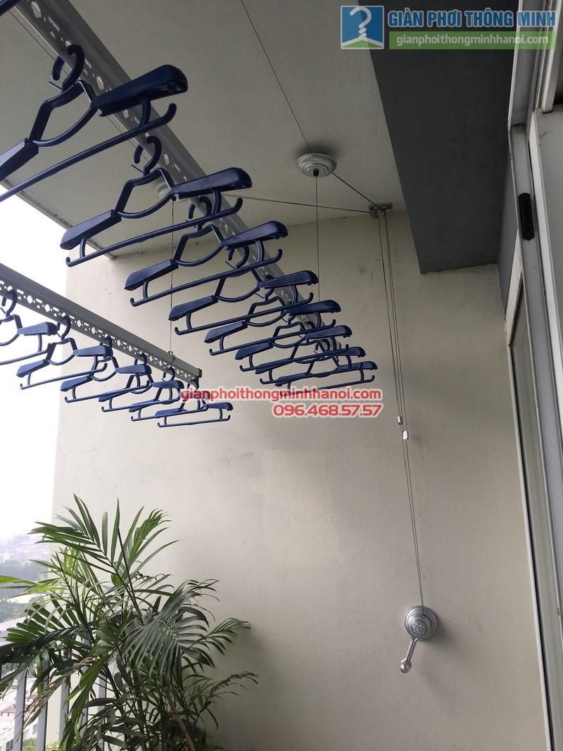 Lắp giàn phơi nhà chị Mai, P1503, Tòa A2, KĐT Ecopak - 09