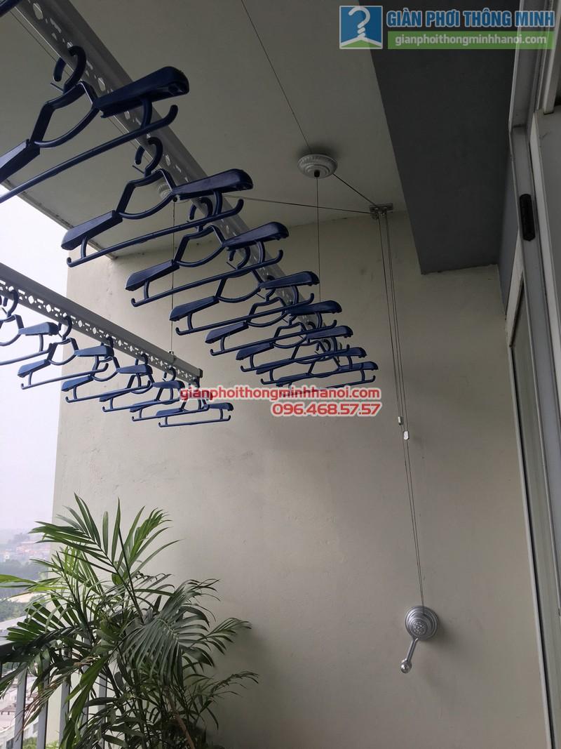 Lắp giàn phơi nhà chị Mai, P1503, Tòa A2, KĐT Ecopak - 10