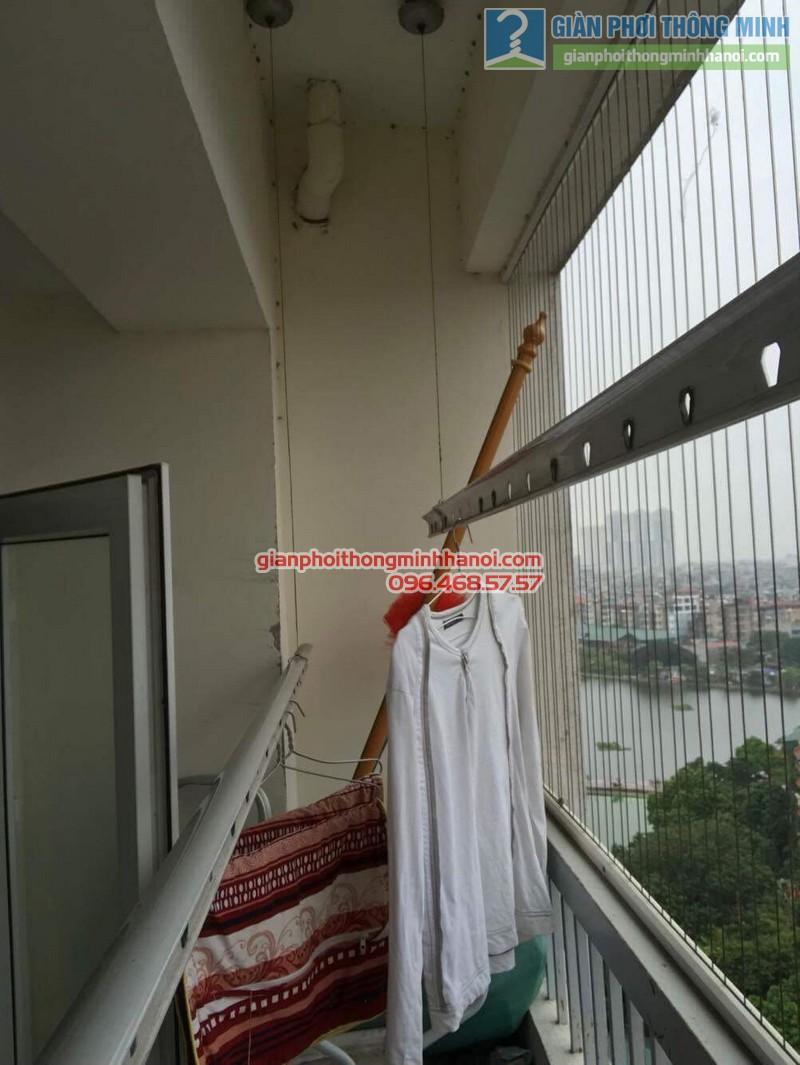 Sửa giàn phơi thông minh tại Thanh Xuân nhà chị Thanh, chung cư 183 Hoàng Văn Thái - 01