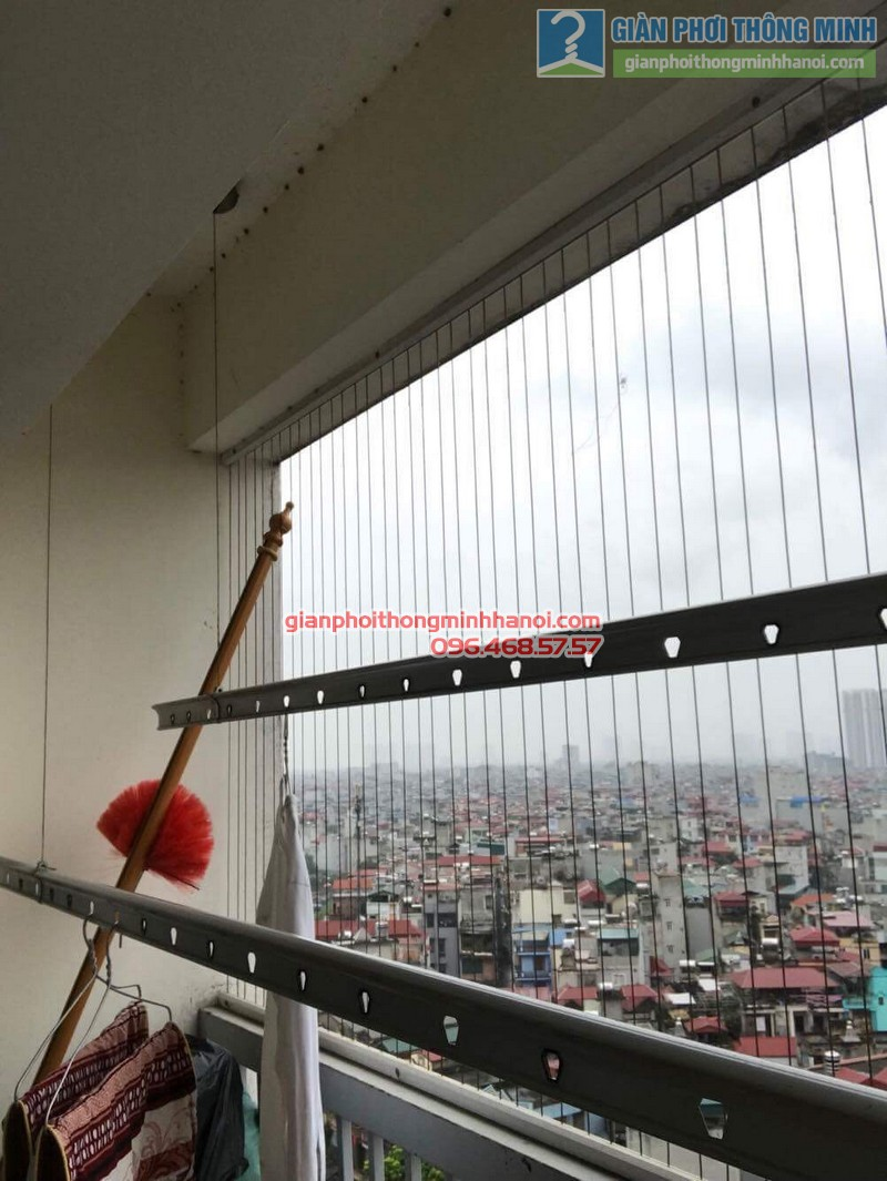 Sửa giàn phơi thông minh tại Thanh Xuân nhà chị Thanh, chung cư 183 Hoàng Văn Thái - 02