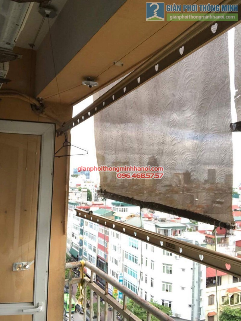 Thay củ quay giàn phơi thông minh nhà anh Trung, 120 Trung Kính, Cầu giấy Hà Nội - 01