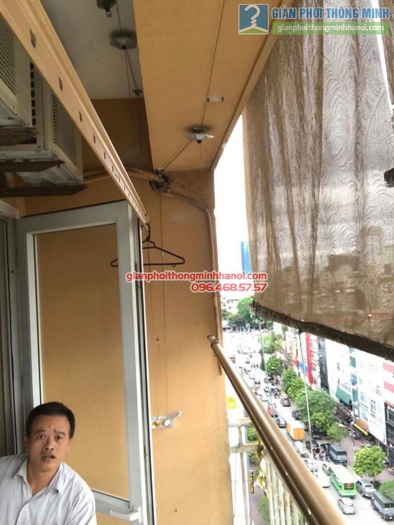 Thay củ quay giàn phơi thông minh nhà anh Trung, 120 Trung Kính, Cầu giấy Hà Nội - 03