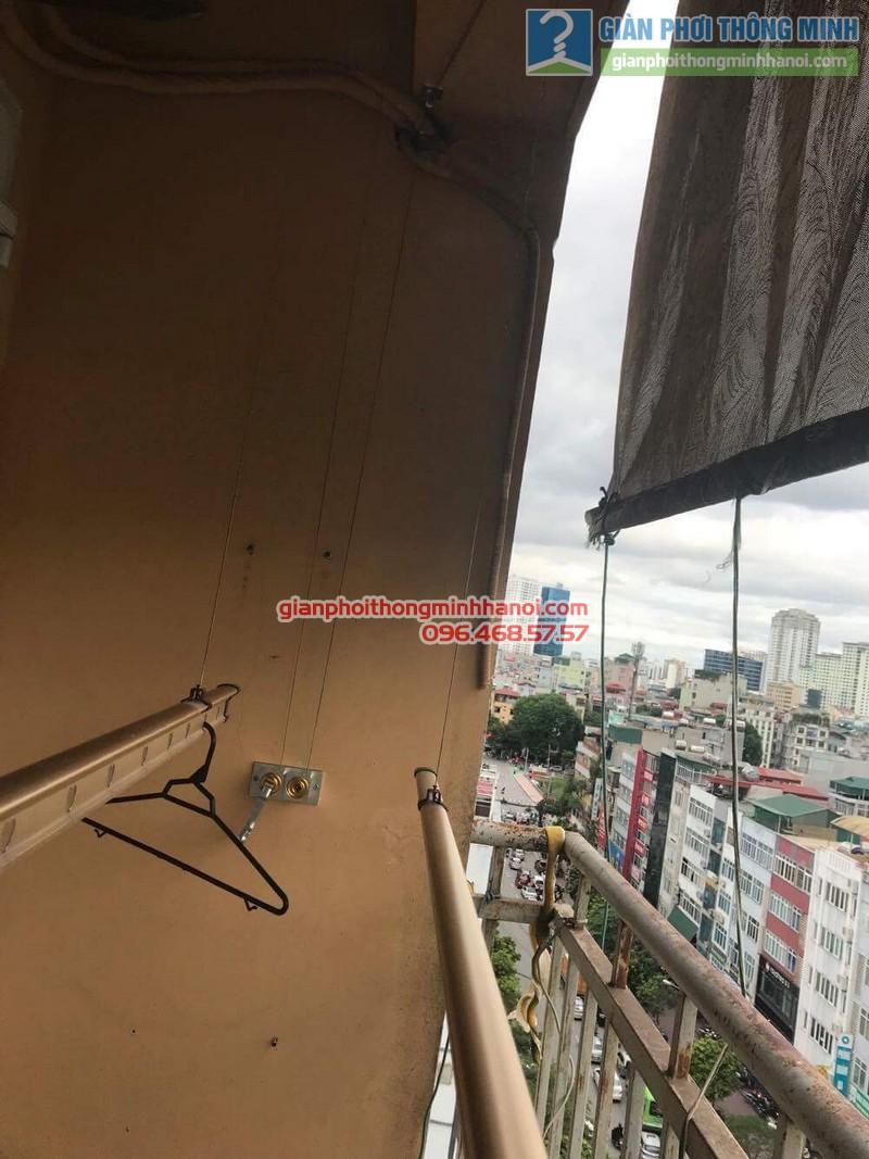 Thay củ quay giàn phơi thông minh nhà anh Trung, 120 Trung Kính, Cầu giấy Hà Nội - 08