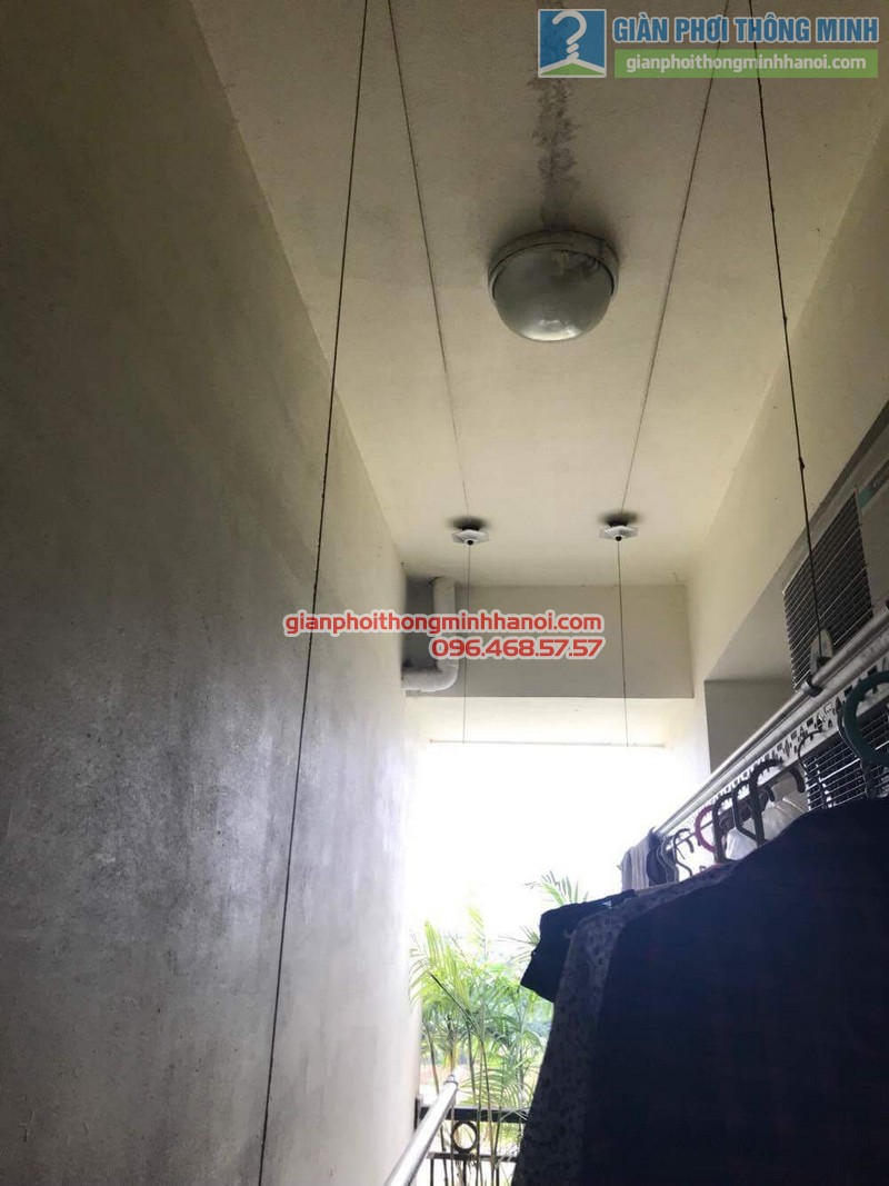 Lắp giàn phơi thông minh tphcm nhà chị Lan, chung cư Minh Long Tower, Quận 3 - 01