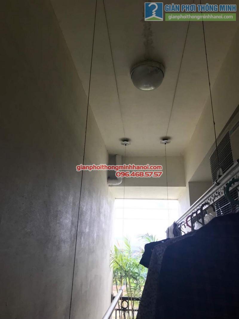 Lắp giàn phơi thông minh tphcm nhà chị Lan, chung cư Minh Long Tower, Quận 3 - 02