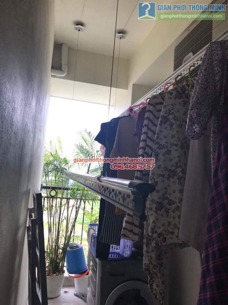 Lắp giàn phơi thông minh tphcm nhà chị Lan, chung cư Minh Long Tower, Quận 3 - 04