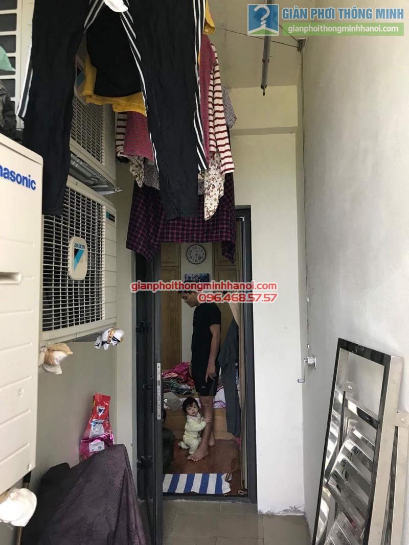 Lắp giàn phơi thông minh tphcm nhà chị Lan, chung cư Minh Long Tower, Quận 3 - 05