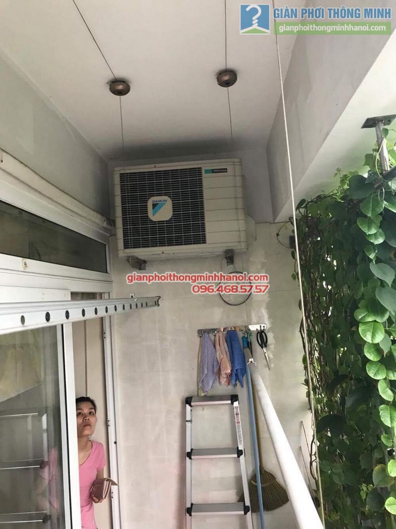 Sửa giàn phơi thông minh tại Đống Đa nhà chị Liễu, Chung cư B4 Kim Liên - 05