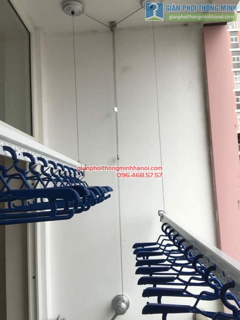 Lắp giàn phơi Hà Đông nhà chị Mỹ, P1505 Tòa 101 chung cư Usilk City - 07