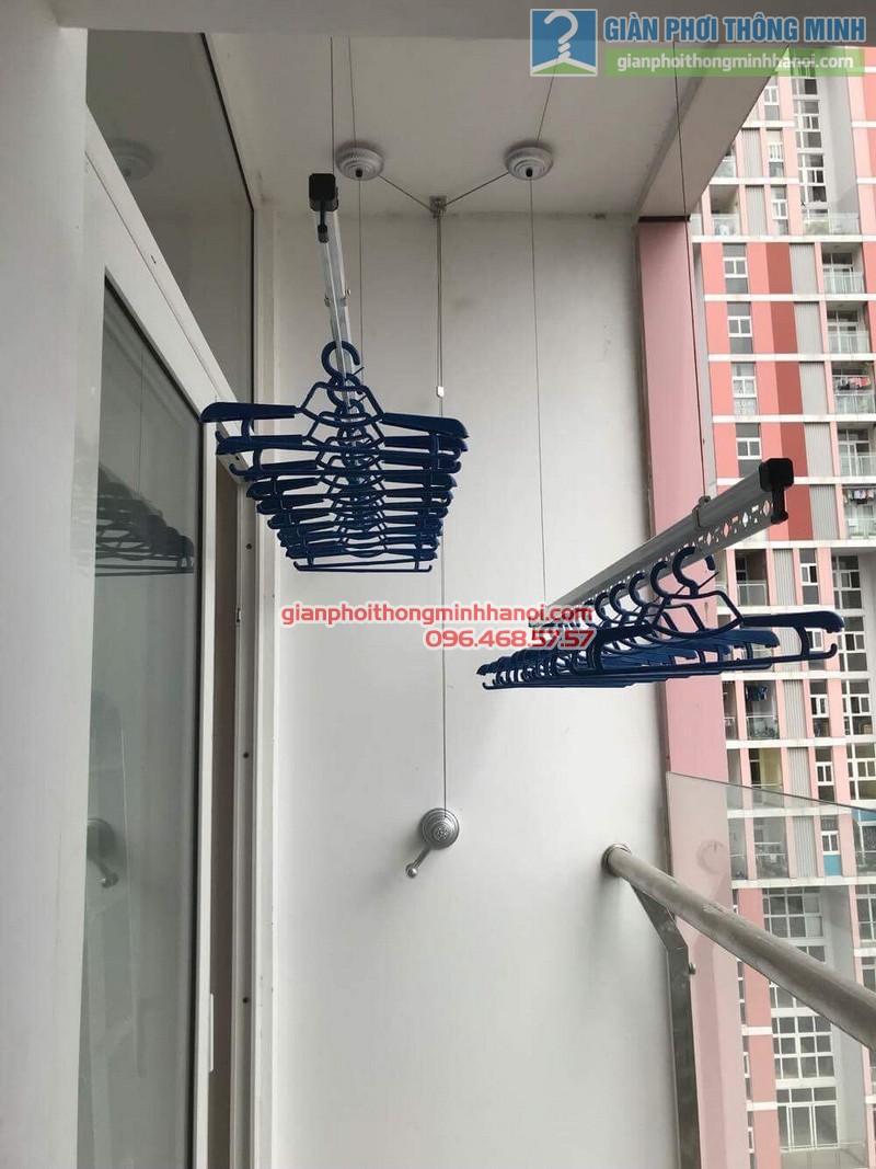 Lắp giàn phơi Hà Đông nhà chị Mỹ, P1505 Tòa 101 chung cư Usilk City - 08