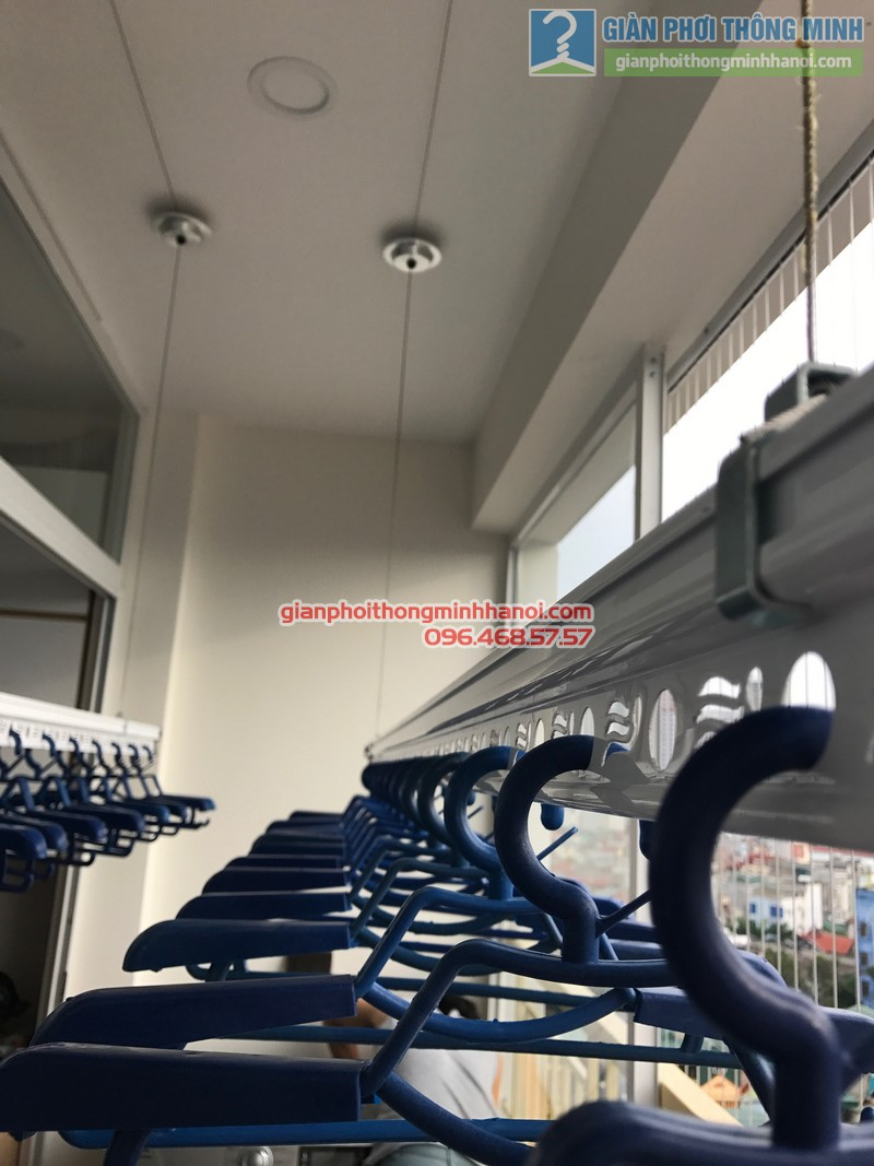 Lắp giàn phơi Thanh Xuân và lưới an toàn ban công cho nhà chị Yến, chung cư 54 Hạ Đình - 04