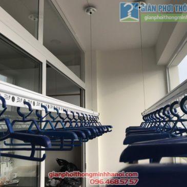 Lắp giàn phơi Thanh Xuân và lưới an toàn ban công nhà chị Yến, chung cư 54, Ngõ 85 Hạ Đình