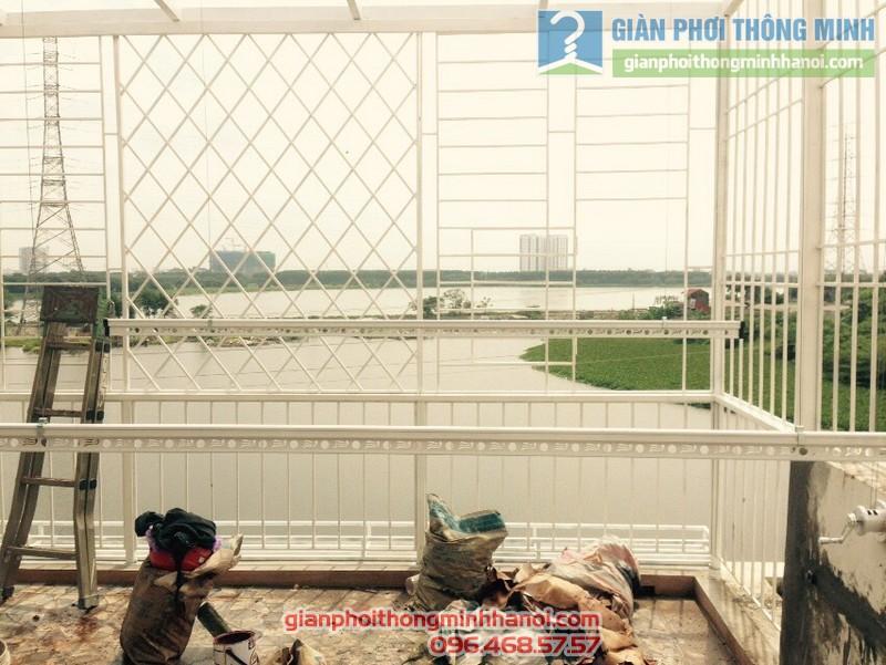 Lắp giàn phơi Hoàng Mai nhà chị An, KĐT Ao Sào, Thịnh Liệt - 04