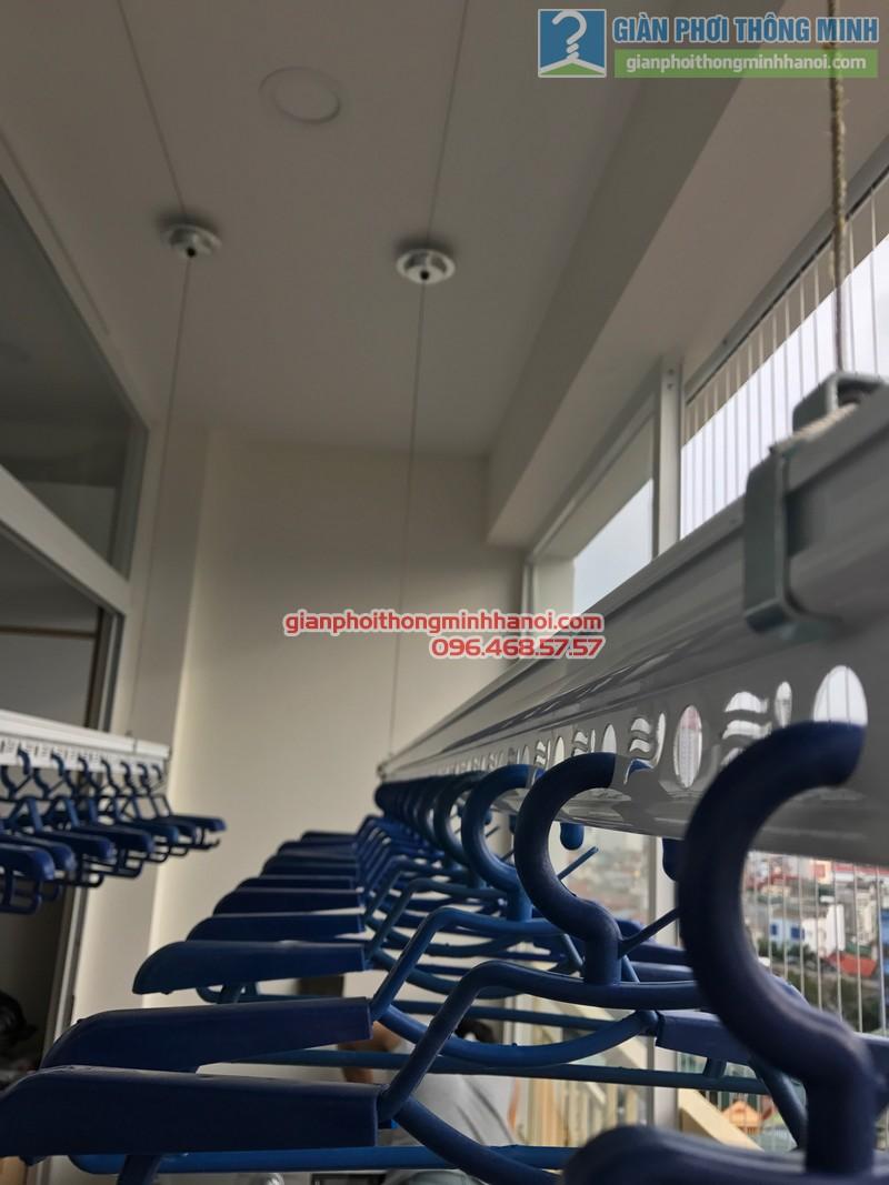 Lắp giàn phơi Thanh Xuân và lưới an toàn ban công cho nhà chị Yến, chung cư 54 Hạ Đình - 07