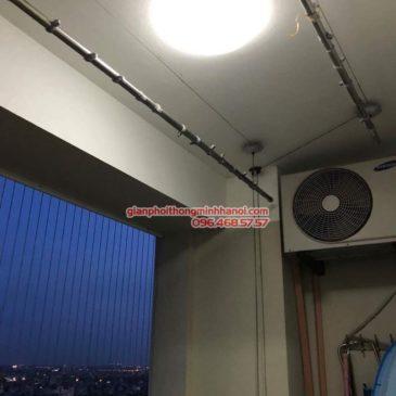 Sửa giàn phơi Long Biên nhà anh Nam, chung cư CT10A, KĐT Sài Đồng