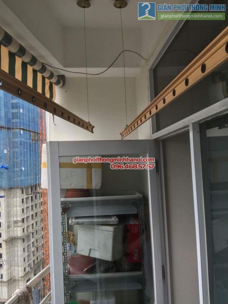 Thay bộ tời giàn phơi thông minh nhà chị Lanh, chung cư Tây Hồ Residence, 445 Lạc Long Quân - 01