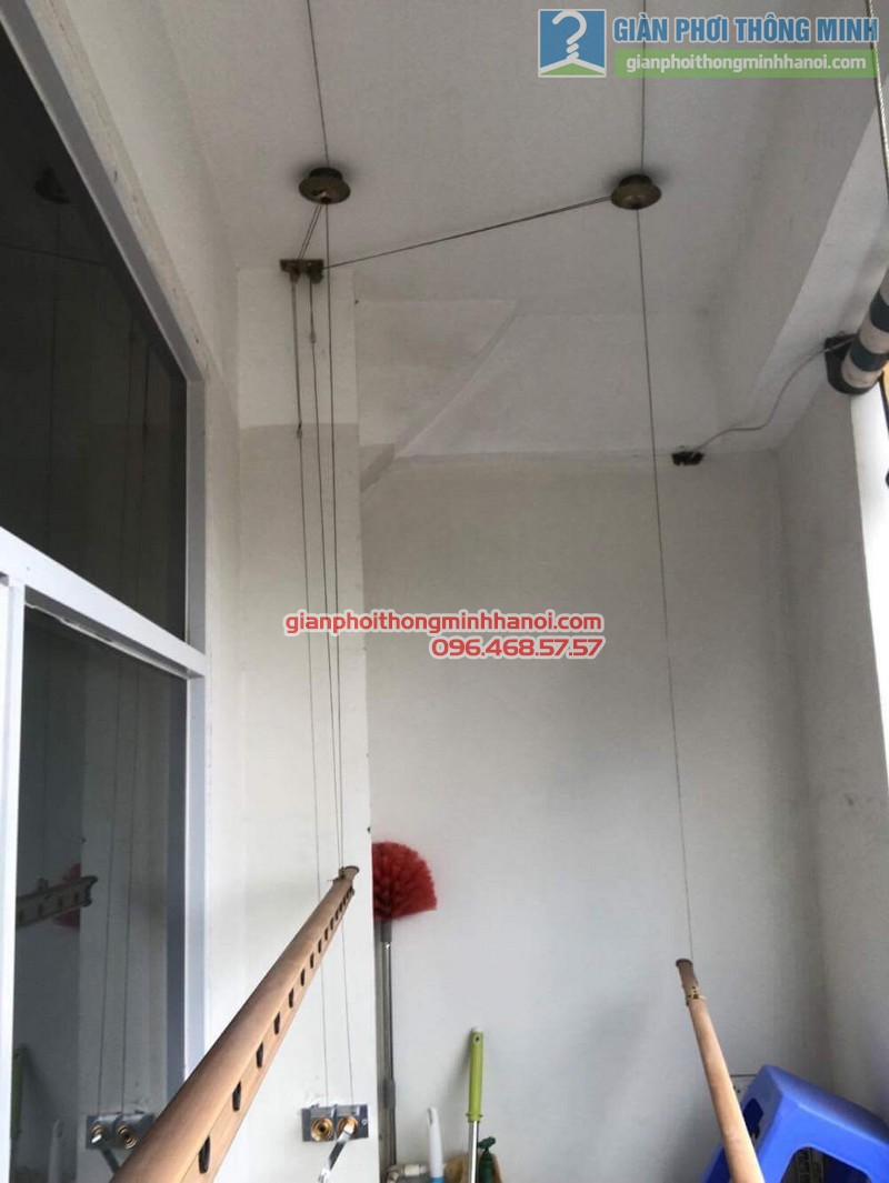 Thay bộ tời giàn phơi thông minh nhà chị Lanh, chung cư Tây Hồ Residence, 445 Lạc Long Quân - 03