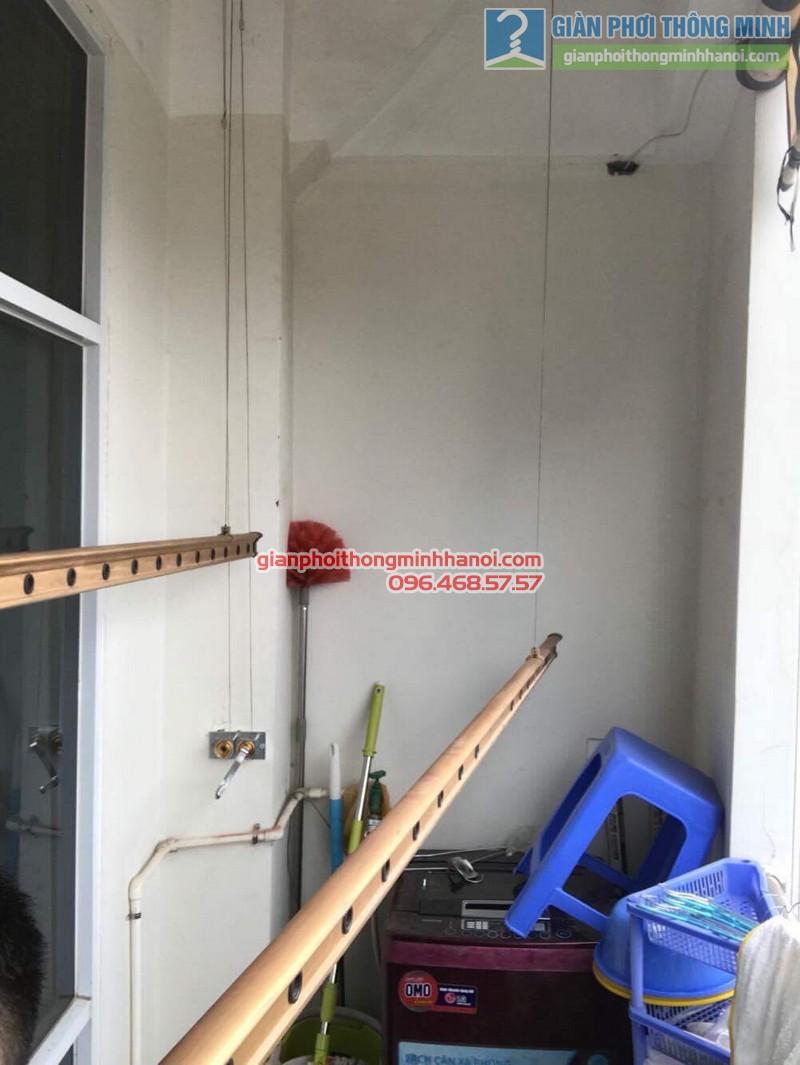 Thay bộ tời giàn phơi thông minh nhà chị Lanh, chung cư Tây Hồ Residence, 445 Lạc Long Quân - 04