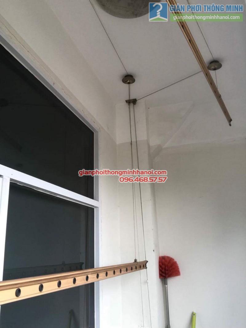 Thay bộ tời giàn phơi thông minh nhà chị Lanh, chung cư Tây Hồ Residence, 445 Lạc Long Quân - 07