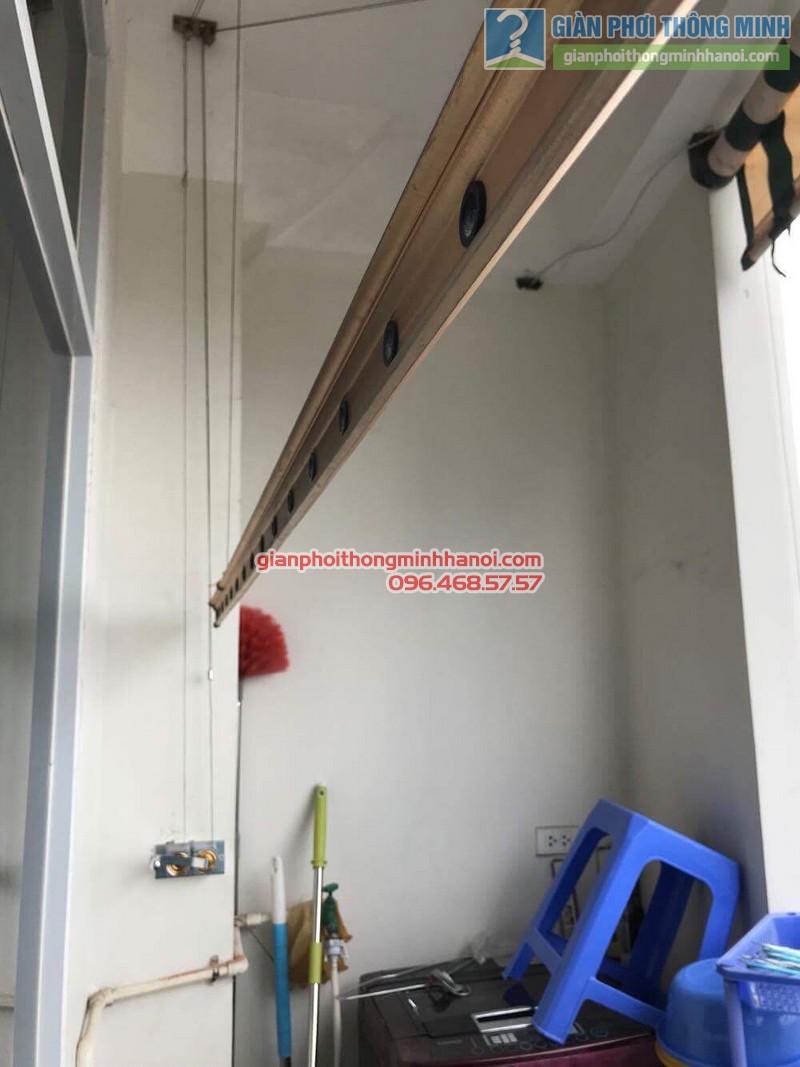 Thay bộ tời giàn phơi thông minh nhà chị Lanh, chung cư Tây Hồ Residence, 445 Lạc Long Quân - 06