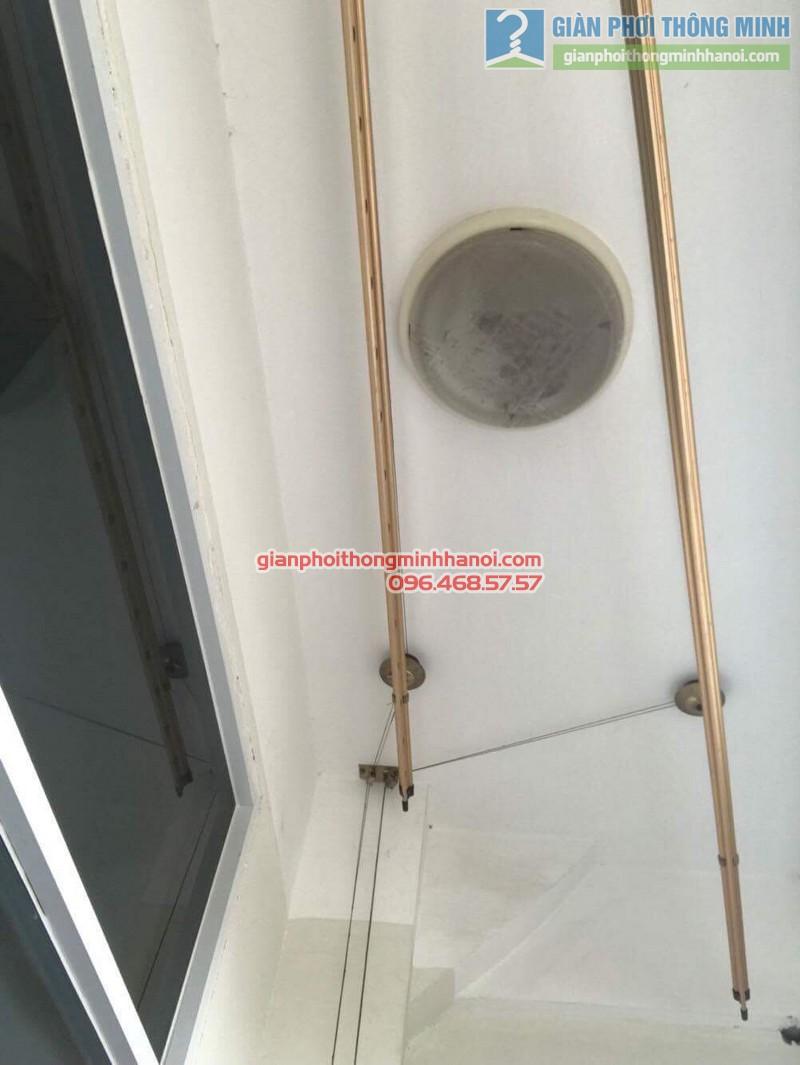 Thay bộ tời giàn phơi thông minh nhà chị Lanh, chung cư Tây Hồ Residence, 445 Lạc Long Quân - 08