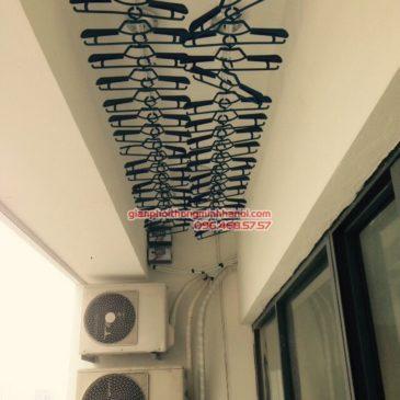 Lắp giàn phơi Bắc Từ Liêm: Lắp 2 bộ giàn phơi GP701 nhà chị Hảo, P1804, Chung cư N01 – T2 Ngoại giao Đoàn