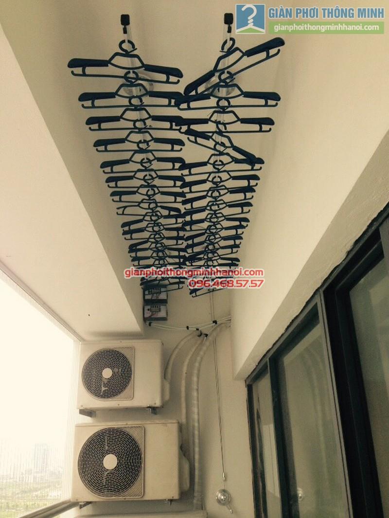 Lắp giàn phơi Hòa Phát GP701 nhà chị Hảo, chung cư N01 - T2 Ngoại giao đoàn - 09