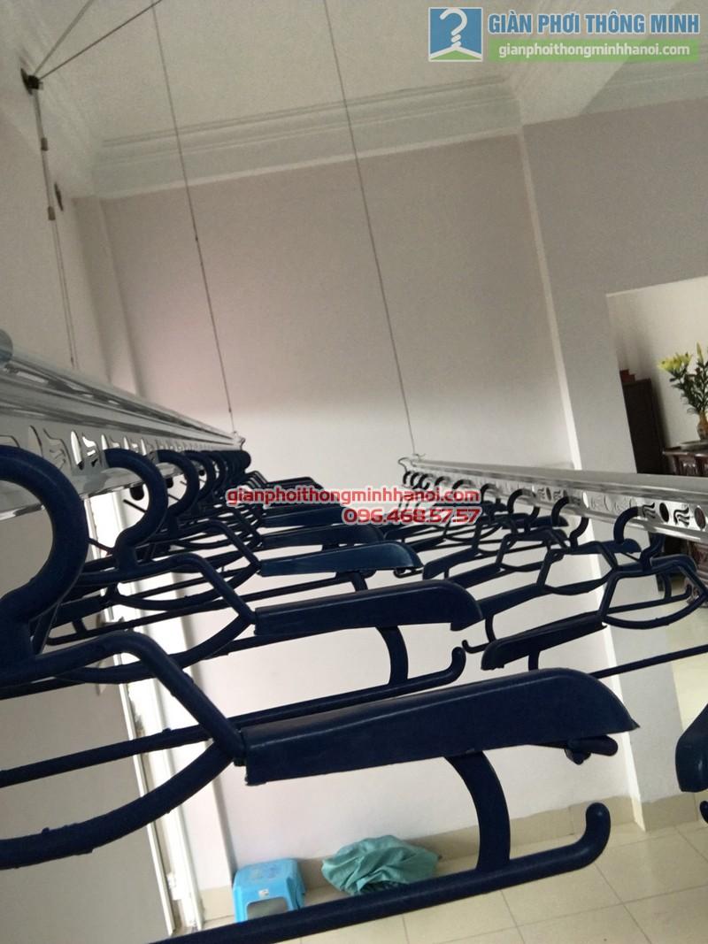 Lắp giàn phơi Cầu giấy nhà anh Ba- bộ giàn phơi Hòa Phát Air GP703 - 07