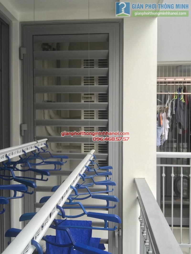 Lắp giàn phơi thông minh tại Park Hill Times City nhà chị Lan - 07