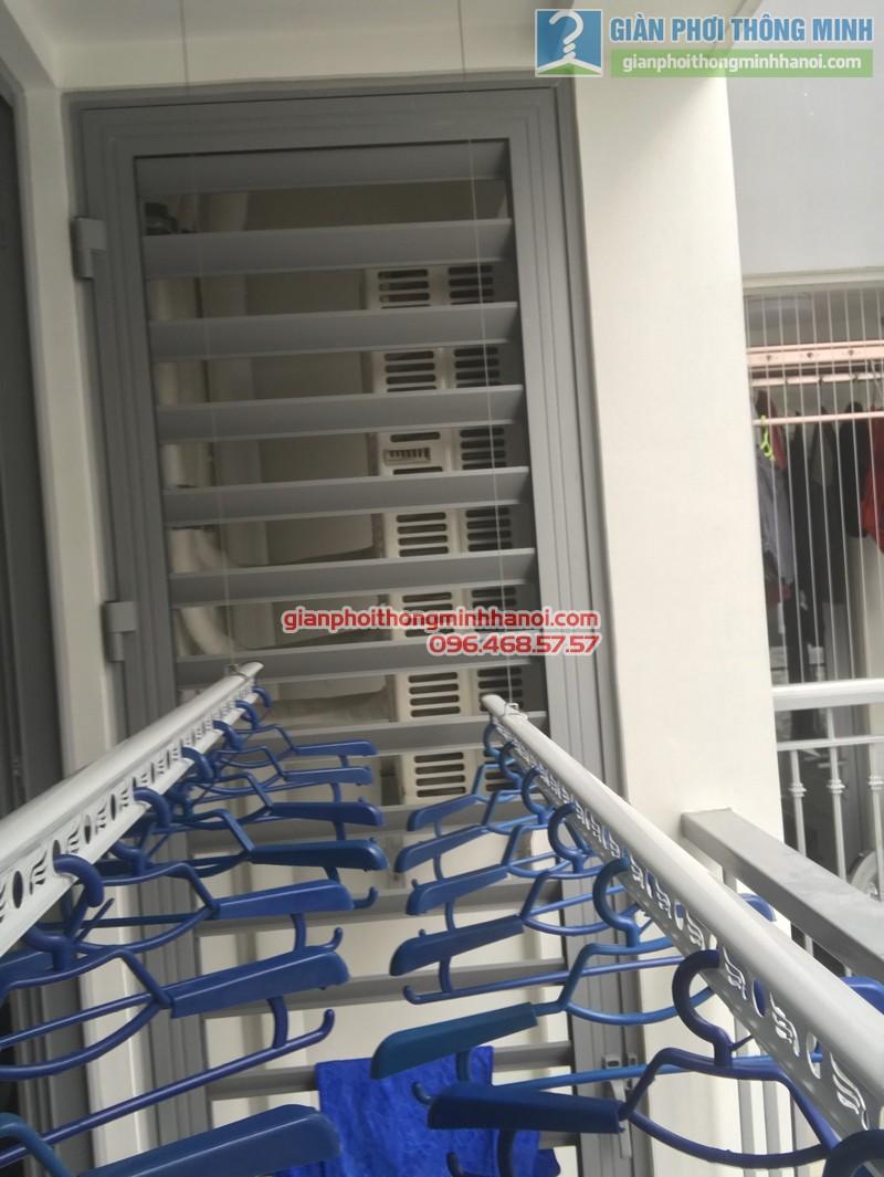 Lắp giàn phơi thông minh tại Park Hill Times City nhà chị Lan - 09